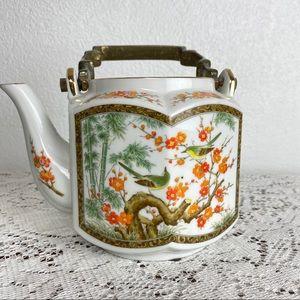 Vintage Japanese teapot with metal handle